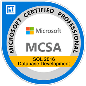 MCSA: SQL 2016 Database Development Exams