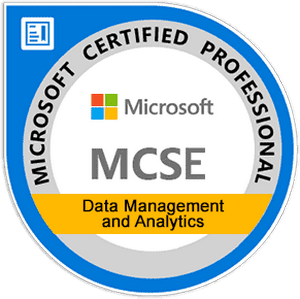 MCSE: Data Management and Analytics Exams