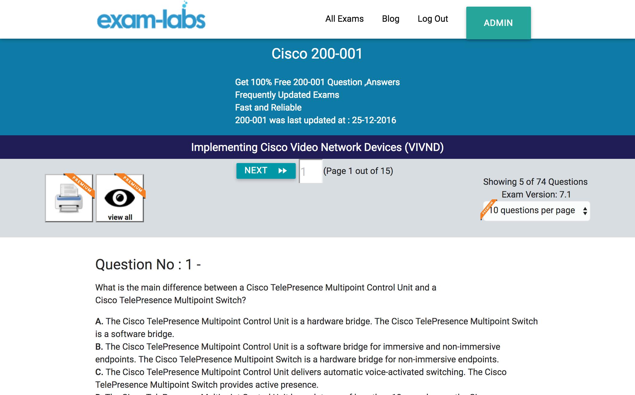 200 001 Cisco Practice Exam Questions 100 Free Exam Labs