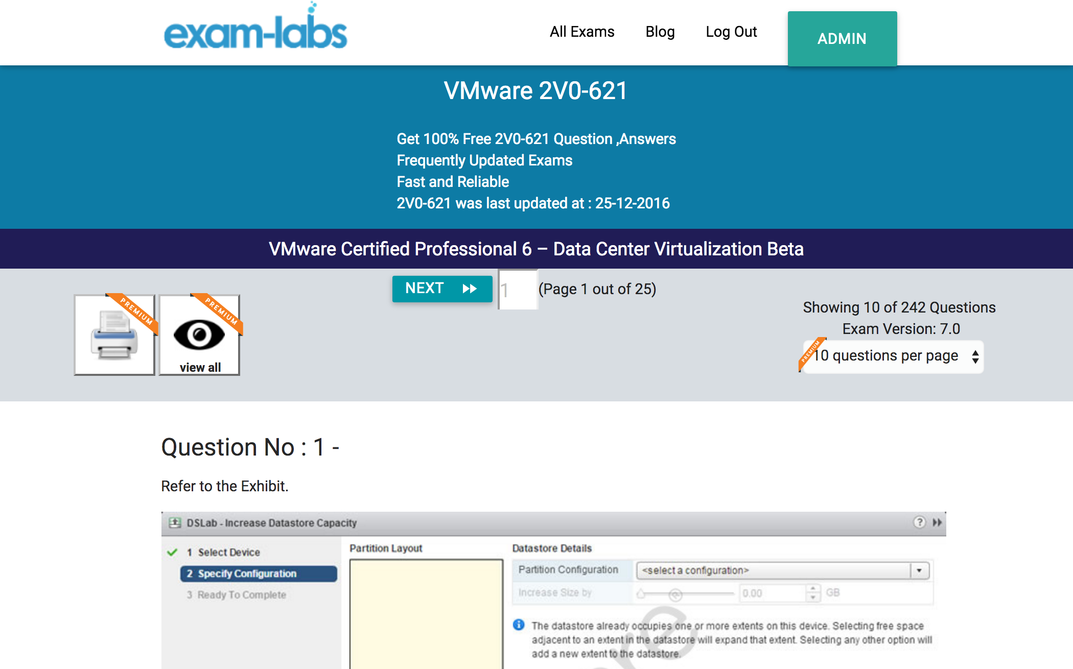 2v0 621 vmware practice exam questions 100 free exam labs vmware 2v0 621 vmware certified professional 6 data center virtualization beta exam 1betcityfo Image collections