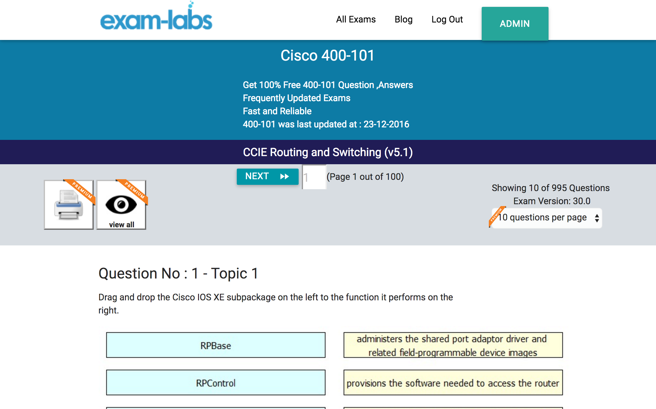 400 101 cisco practice exam questions 100 free exam labs cisco 400 101 ccie routing and switching v51 exam 1betcityfo Image collections