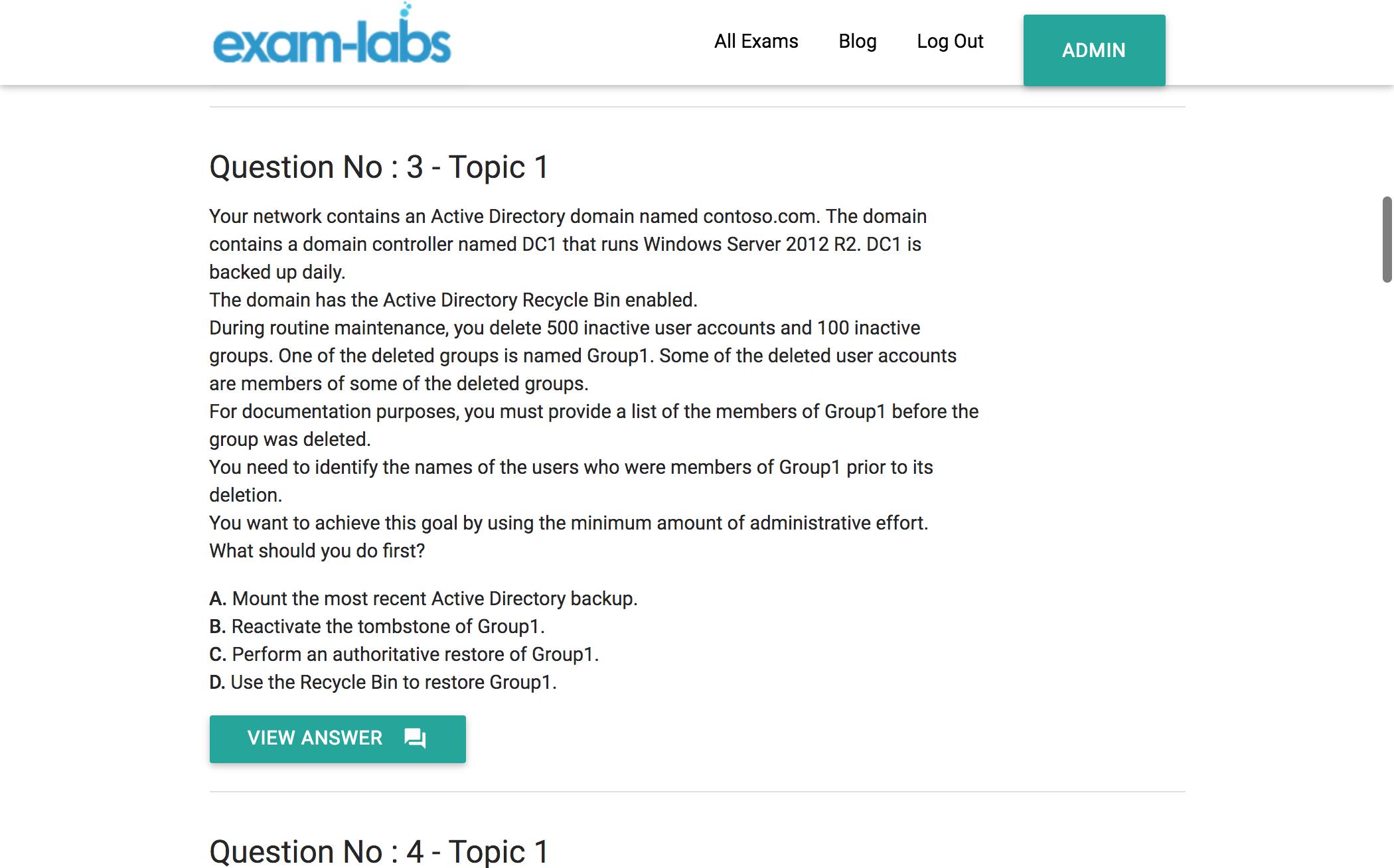 70 411 microsoft real exam questions 100 free exam labs 70 411practiceexam1 70 411practiceexam2 xflitez Choice Image