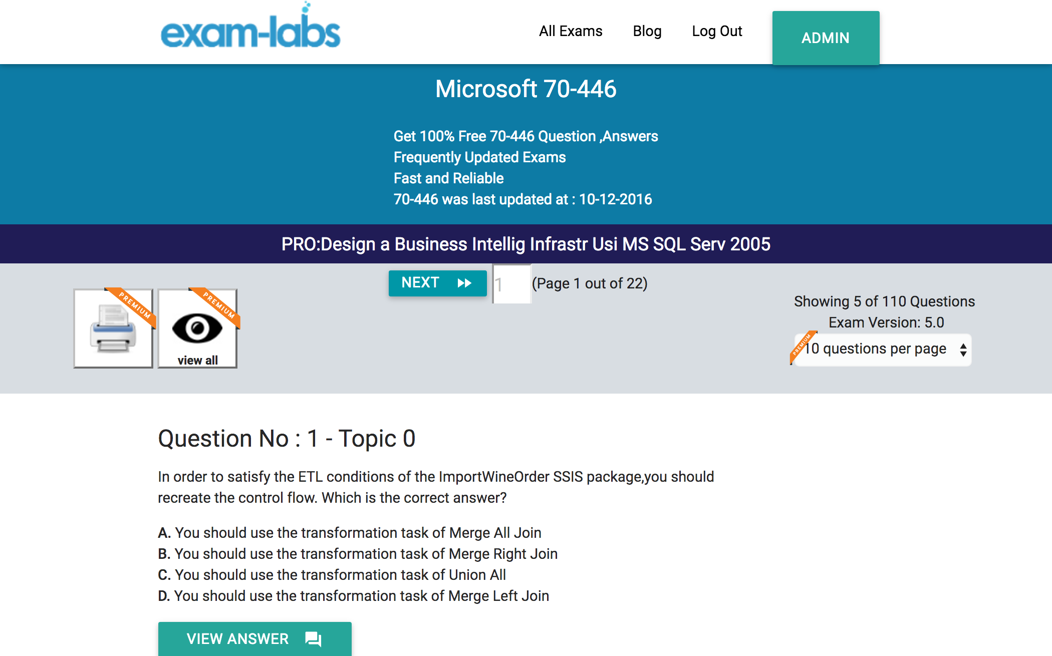 70 446 microsoft practice exam questions 100 free exam labs microsoft 70 446 prodesign a business intellig infrastr usi ms sql serv 2005 exam 1betcityfo Images
