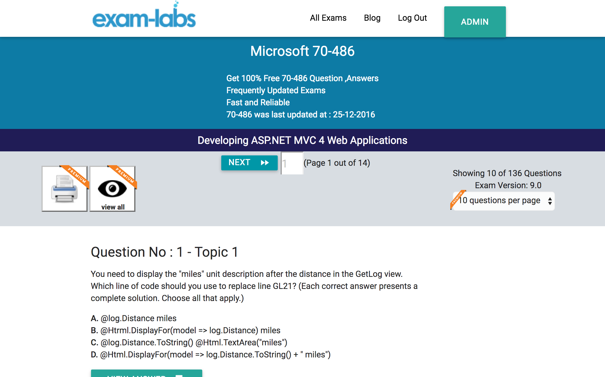 70 486 microsoft practice exam questions 100 free exam labs microsoft 70 486 developing asp mvc 4 web applications exam xflitez Image collections
