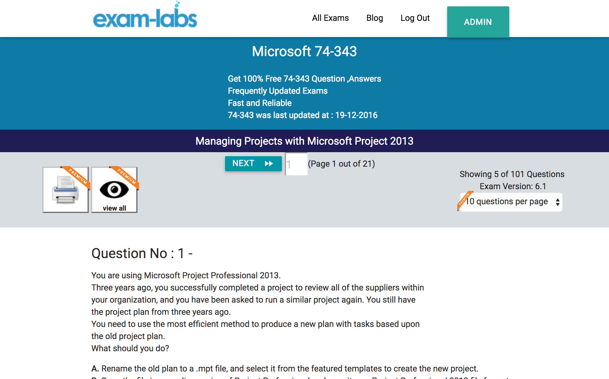 74 343 microsoft practice exam questions 100 free exam labs microsoft 74 343 managing projects with microsoft project 2013 exam 1betcityfo Images