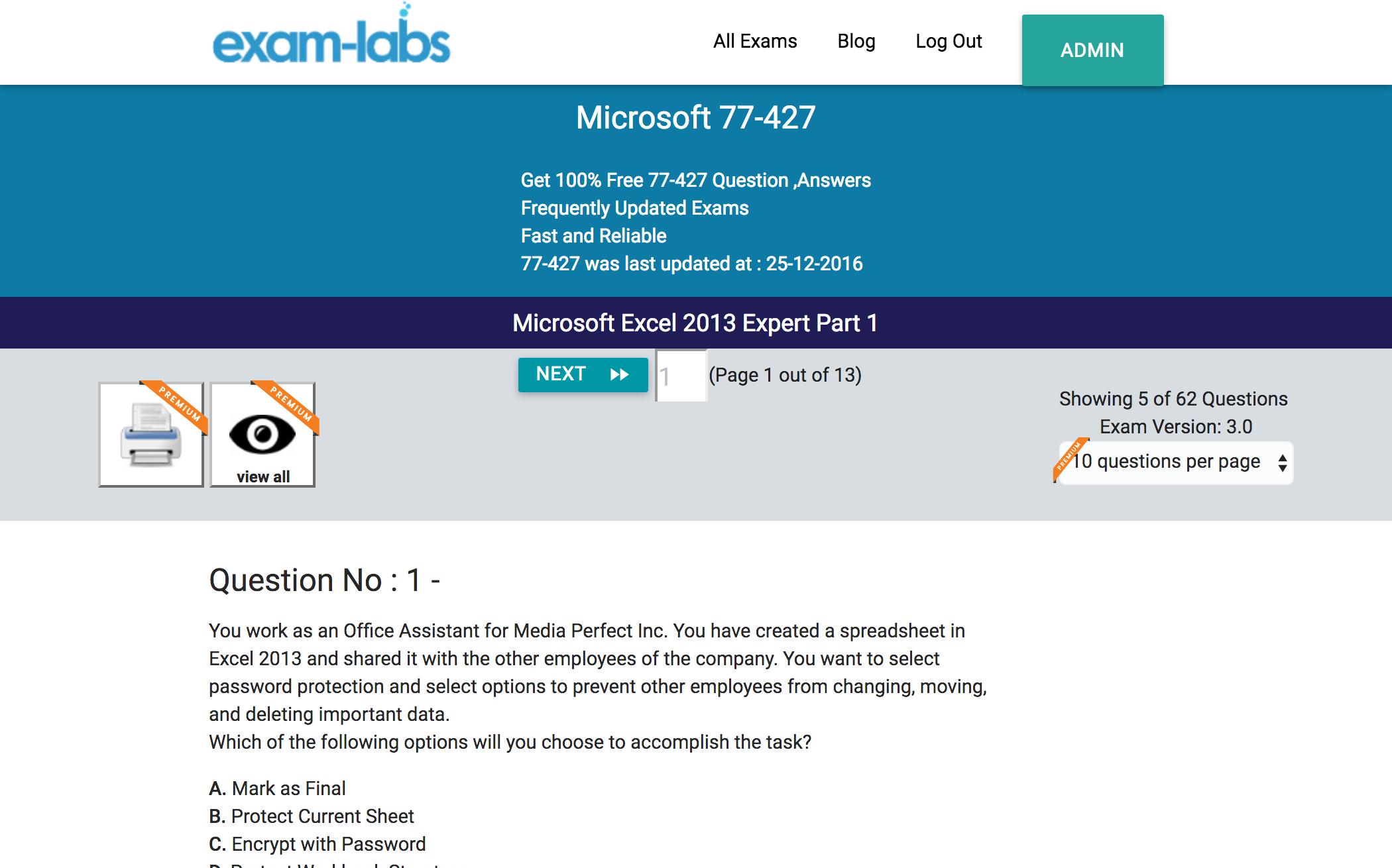 77 427 microsoft practice exam questions 100 free exam labs microsoft 77 427 microsoft excel 2013 expert part 1 exam xflitez Images