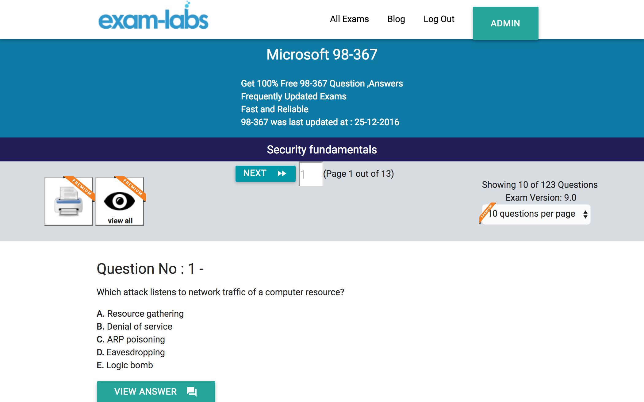 98 367 microsoft practice exam questions 100 free exam labs microsoft 98 367 security fundamentals exam 1betcityfo Choice Image