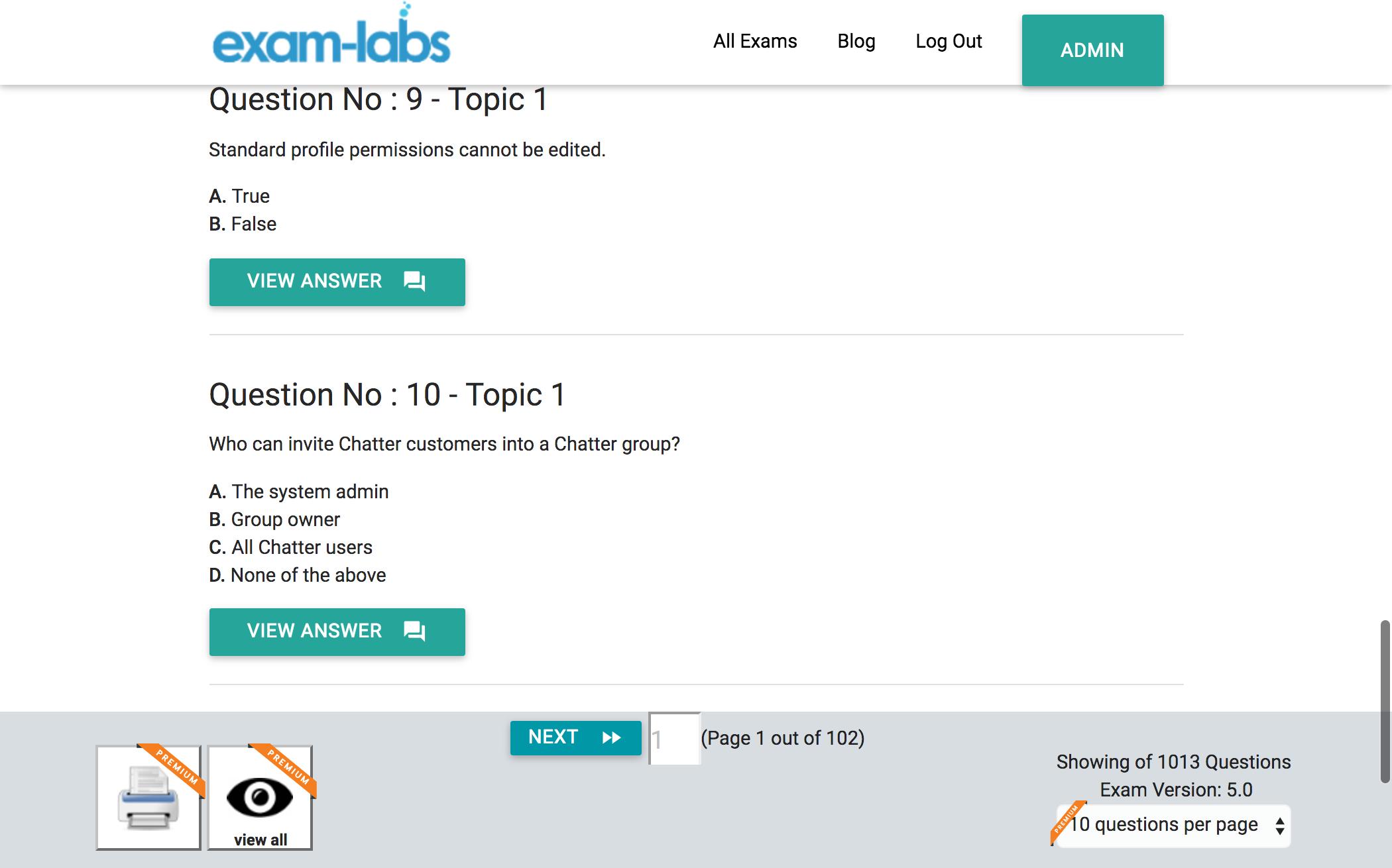 Salesforce quiz cards 17