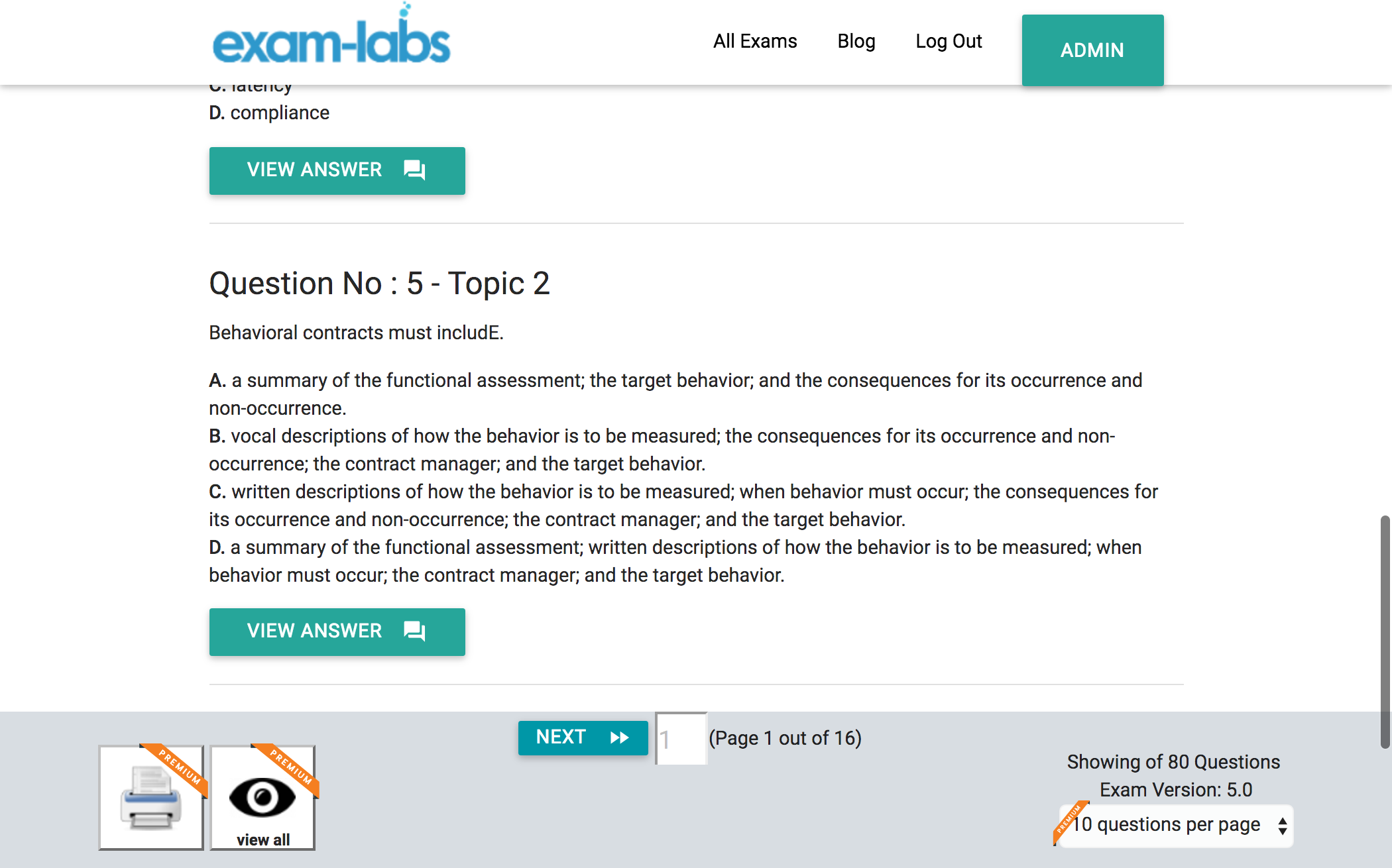 bcba exam practice bacb info labs board certified questions updated last 17th august