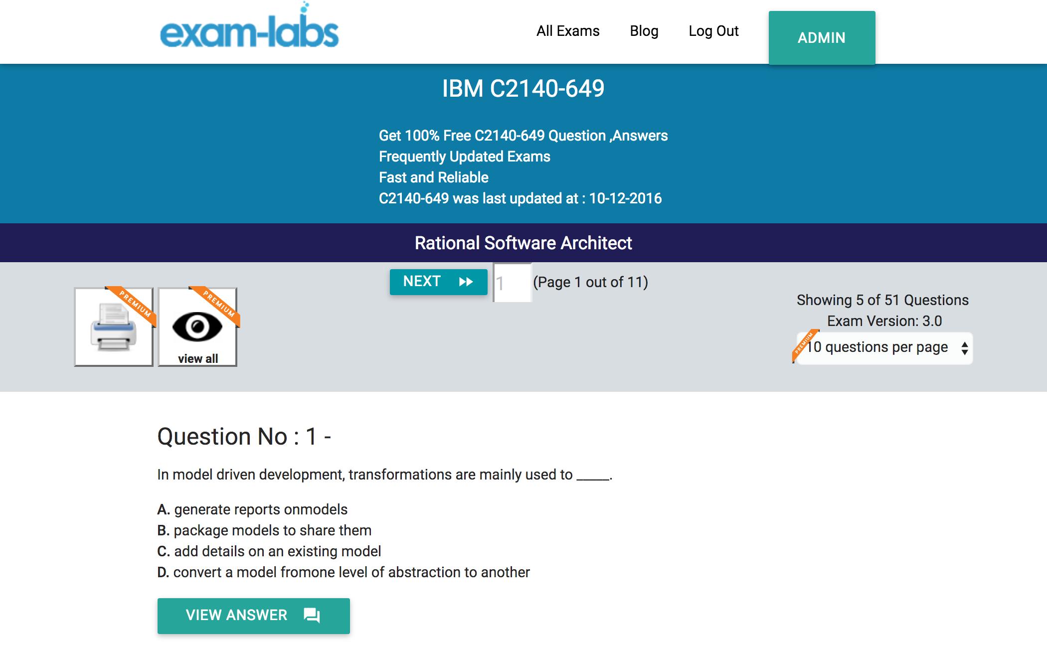 C2140 649 ibm real exam questions 100 free exam labs ibm c2140 649 rational software architect exam xflitez Gallery