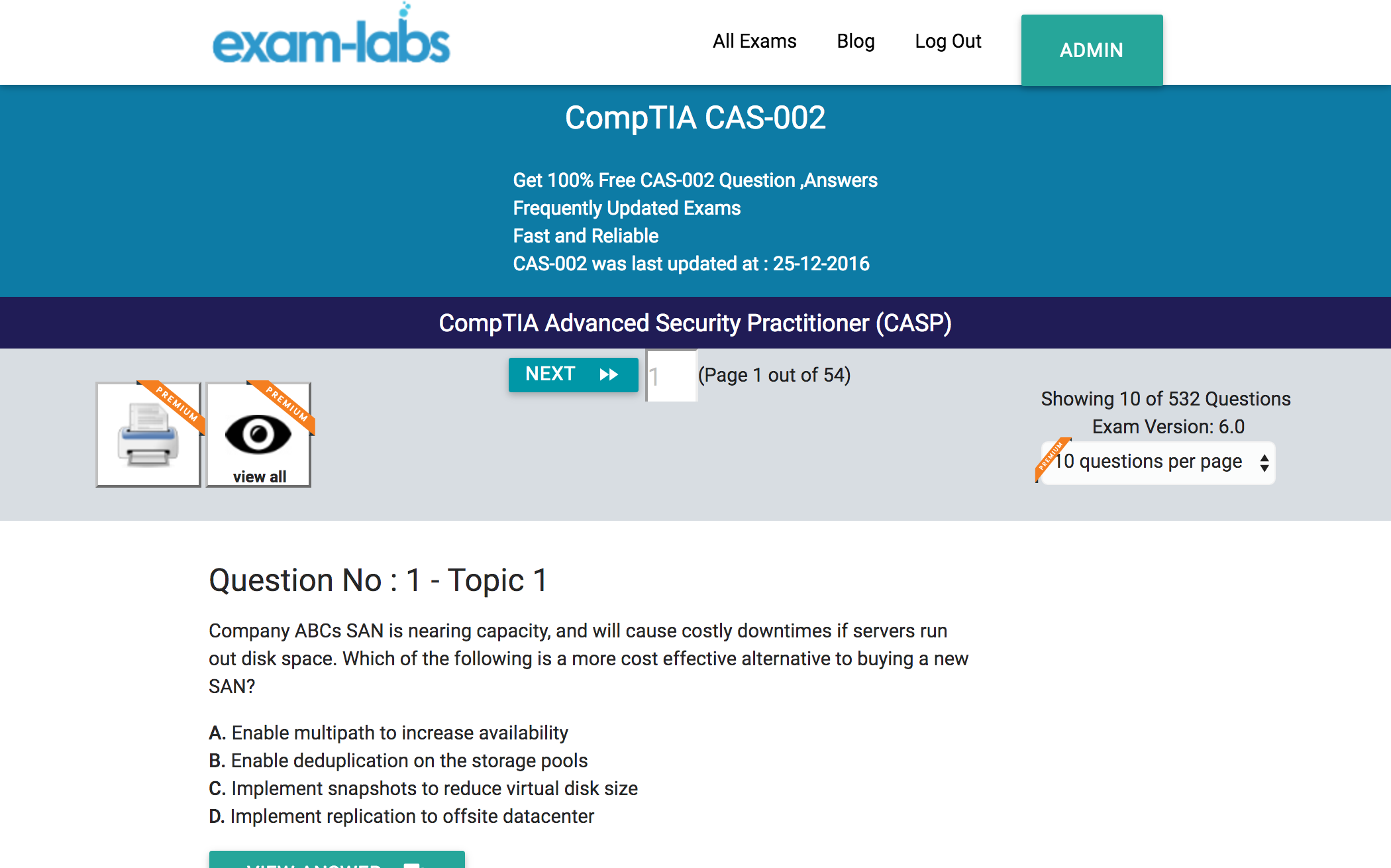Cas 002 Comptia Practice Exam Questions 100 Free