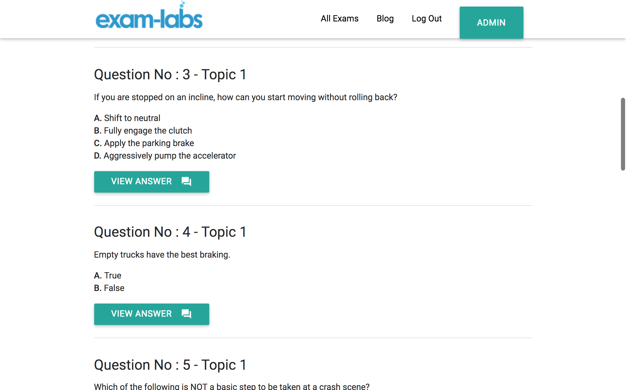 Cdl cdl practice exam questions 100 free exam labs cdlpracticeexam1 cdlpracticeexam2 cdlpracticeexam3 1betcityfo Image collections