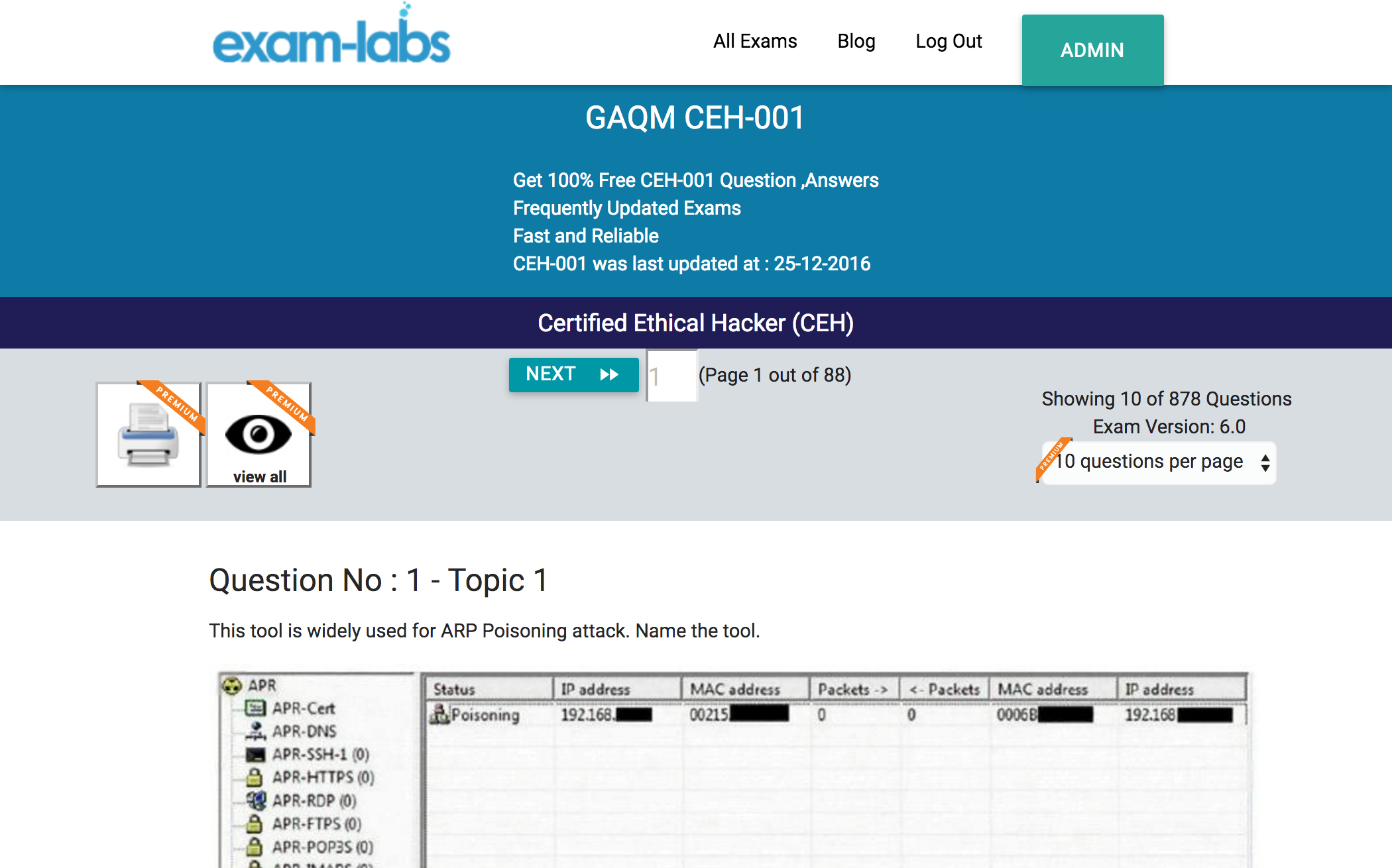 Ceh 001 gaqm real exam questions 100 free exam labs ceh 001practiceexam1 xflitez Image collections