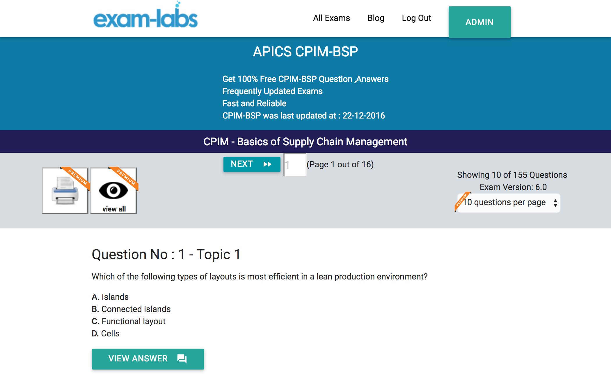 Cpim bsp apics practice exam questions 100 free exam labs cpim bsppracticeexam1 xflitez Gallery