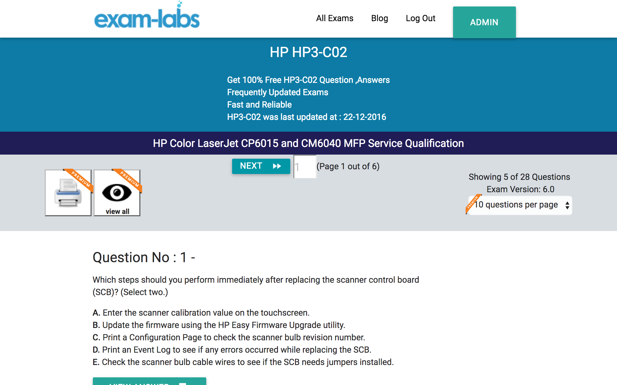 hp3 c02 hp real exam questions 100 free exam labs