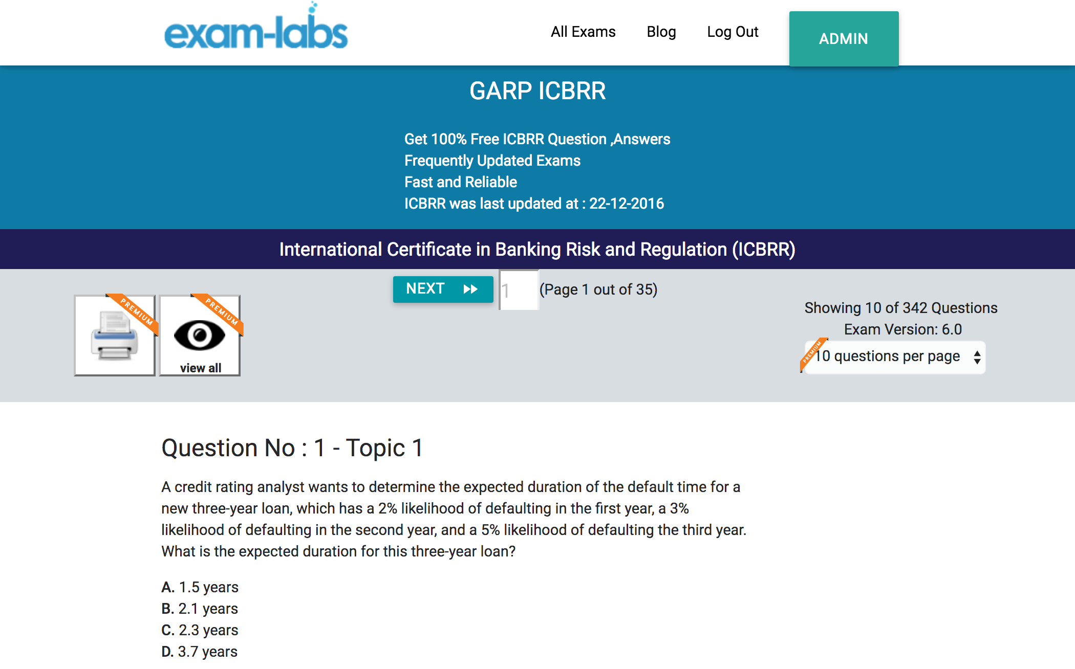 Icbrr garp practice exam questions 100 free exam labs garp icbrr international certificate in banking risk and regulation icbrr exam start icbrr exam yadclub Image collections