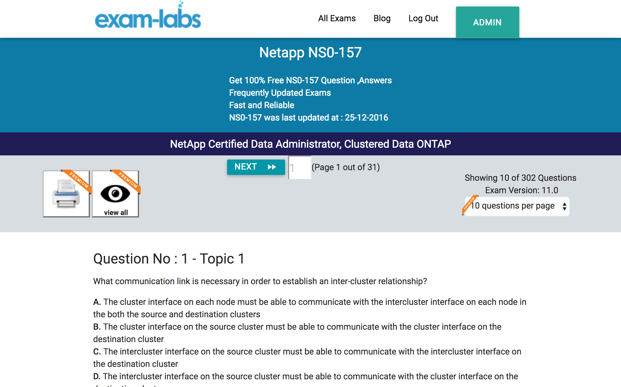 Ns0 157 netapp practice exam questions 100 free exam labs netapp ns0 157 netapp certified data administrator clustered data ontap exam xflitez Image collections