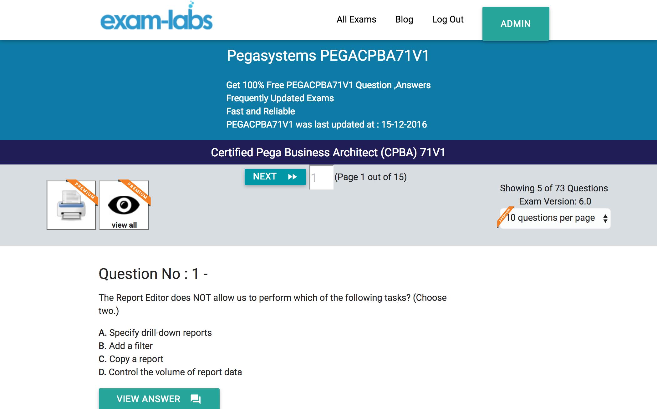Pega CPBA free download pdf & Pega CPBA latest test ...
