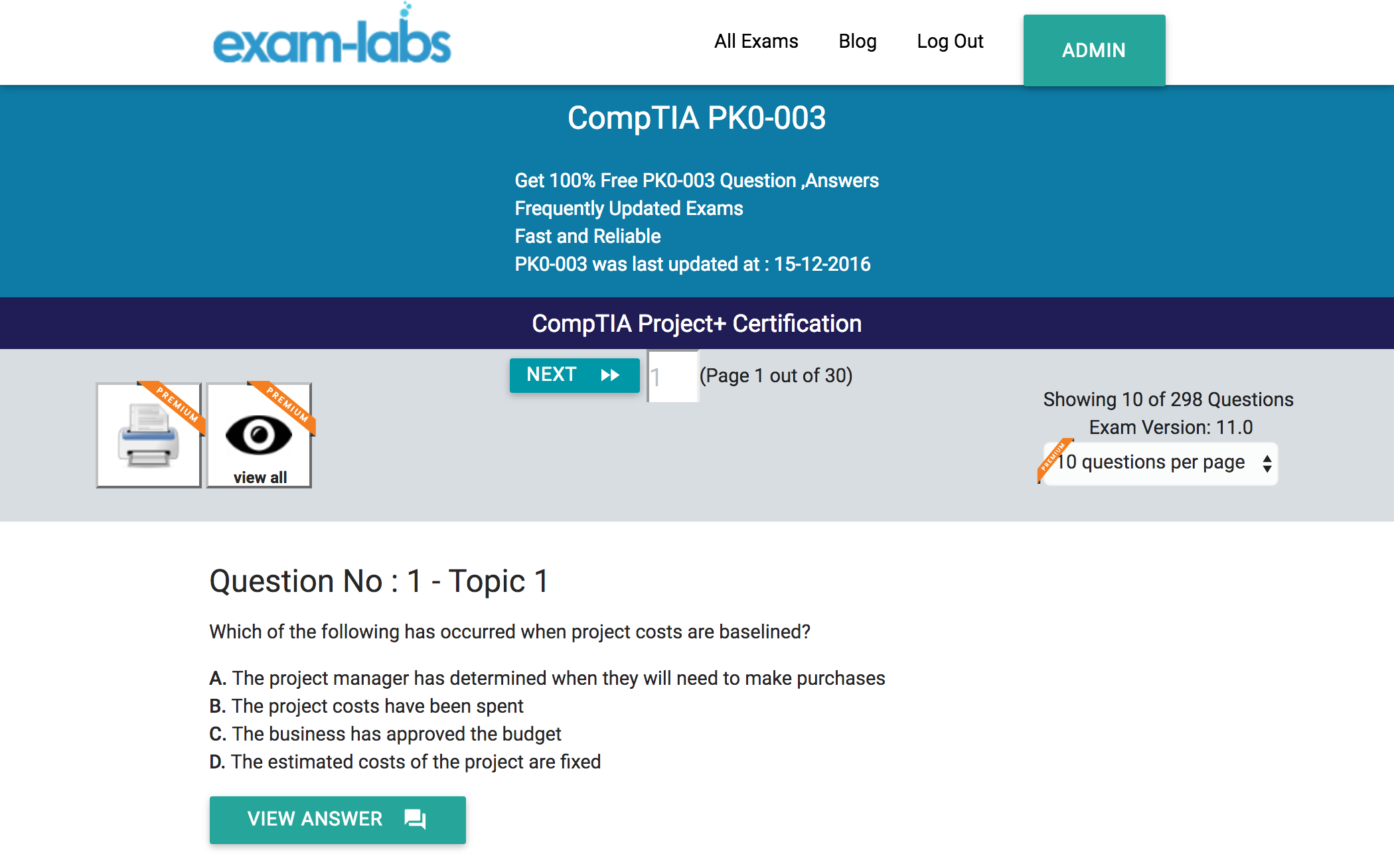Pk0 003 comptia real exam questions 100 free exam labs comptia pk0 003 comptia project certification exam xflitez Image collections