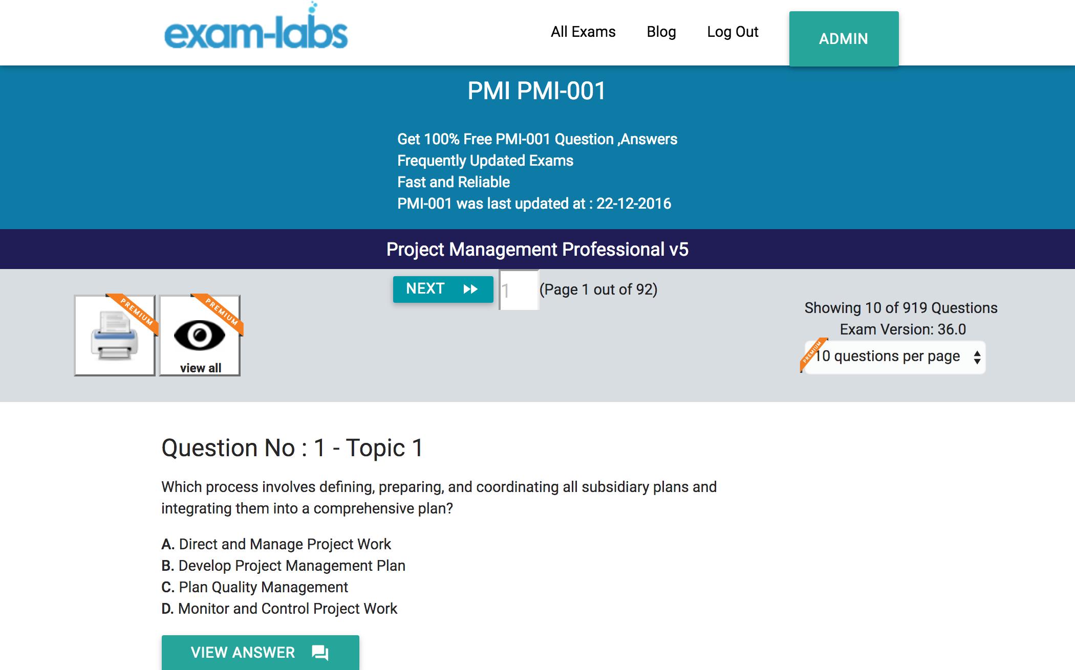 Pmi 001 pmi real exam questions 100 free exam labs project management professional v5 exam start pmi 001 exam pmi 001practiceexam1 xflitez Gallery