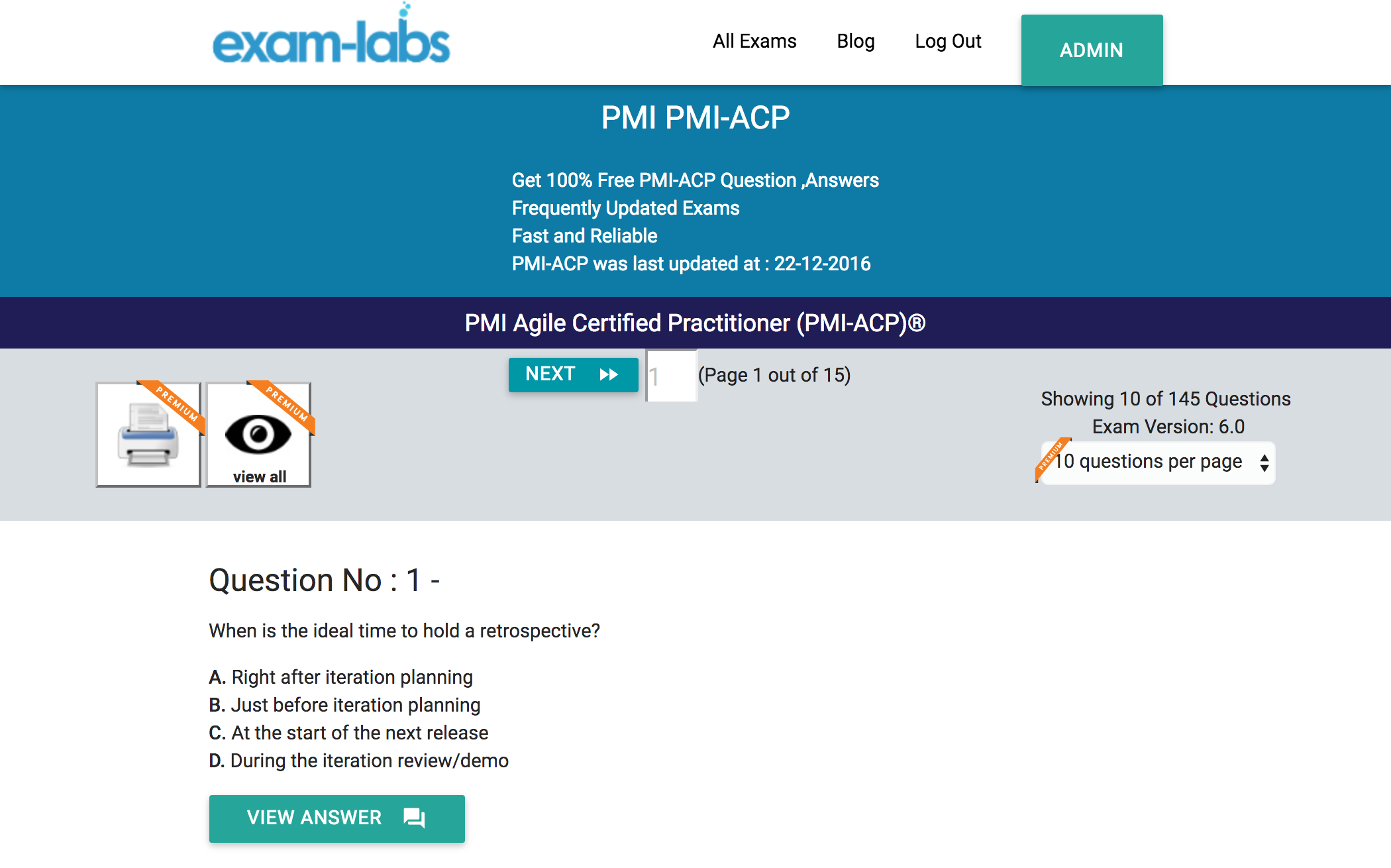Pmi acp pmi practice exam questions 100 free exam labs pmi acppracticeexam1 1betcityfo Images