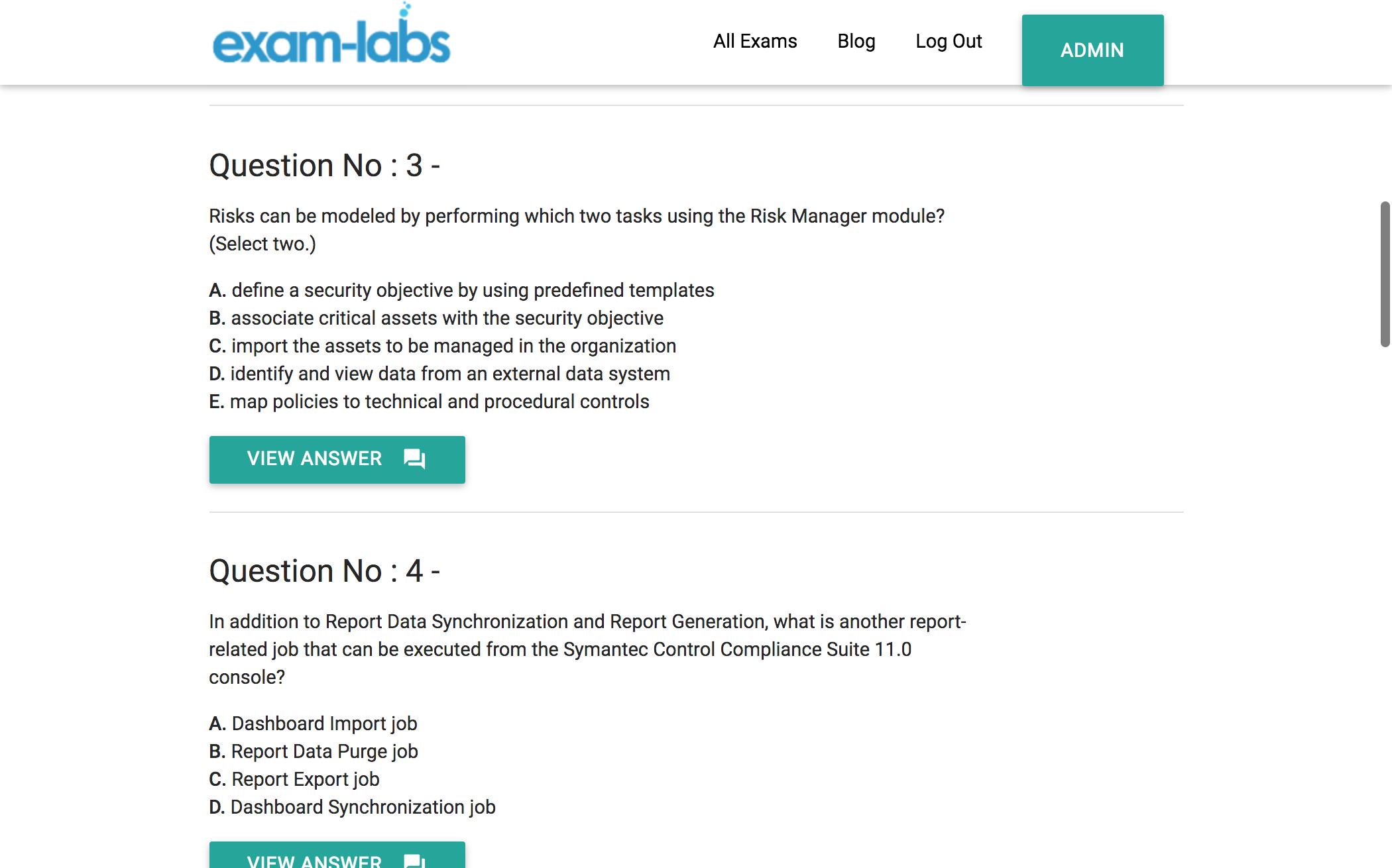ST0-151 - Symantec Practice Exam Questions - 100% Free   Exam-Labs