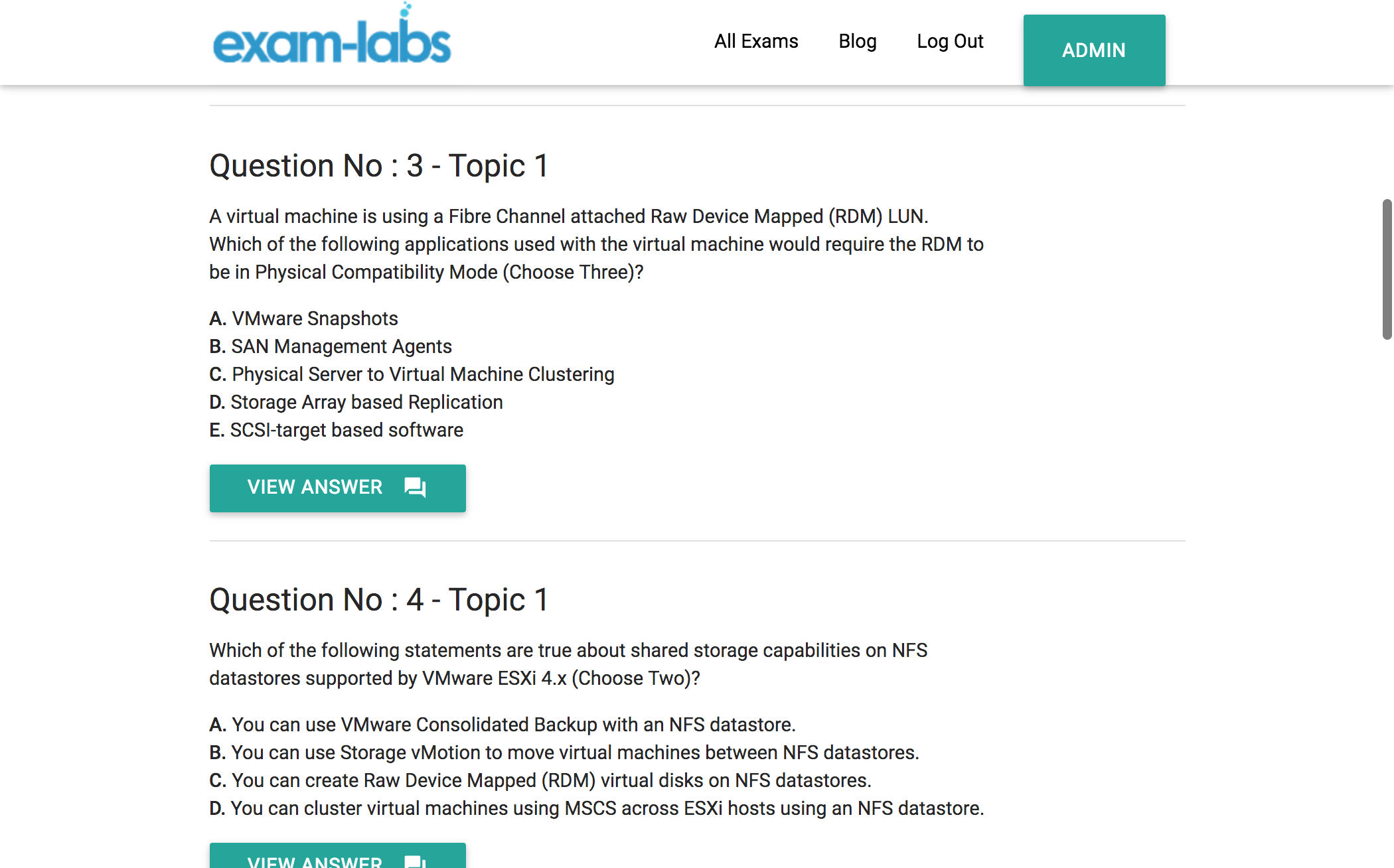 Vcp 410 vmware real exam questions 100 free exam labs vcp 410practiceexam1 vcp 410practiceexam2 xflitez Images